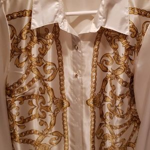 Classy white and Gold print